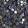 Square Beads 3.4x3.4mm Iris Metallic Mix